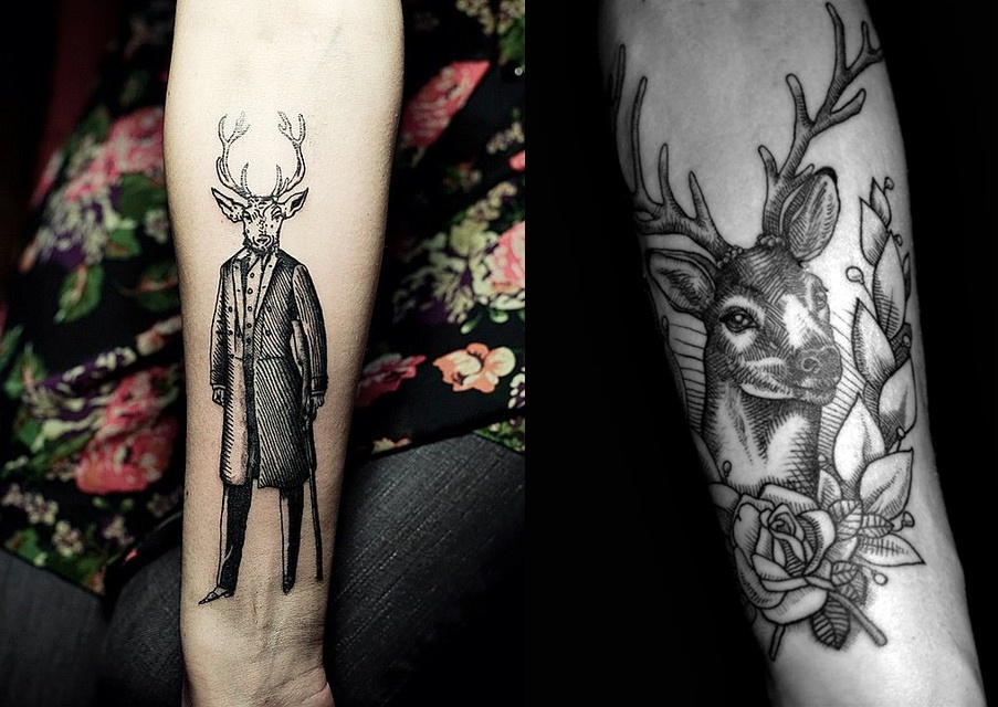 Tattoo+designs%2c+tattoo+ideas+ +The+stag+gentleman%2c+deer+arm+tattoo