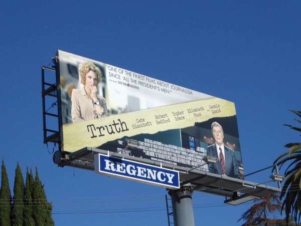 Truth movie billboard