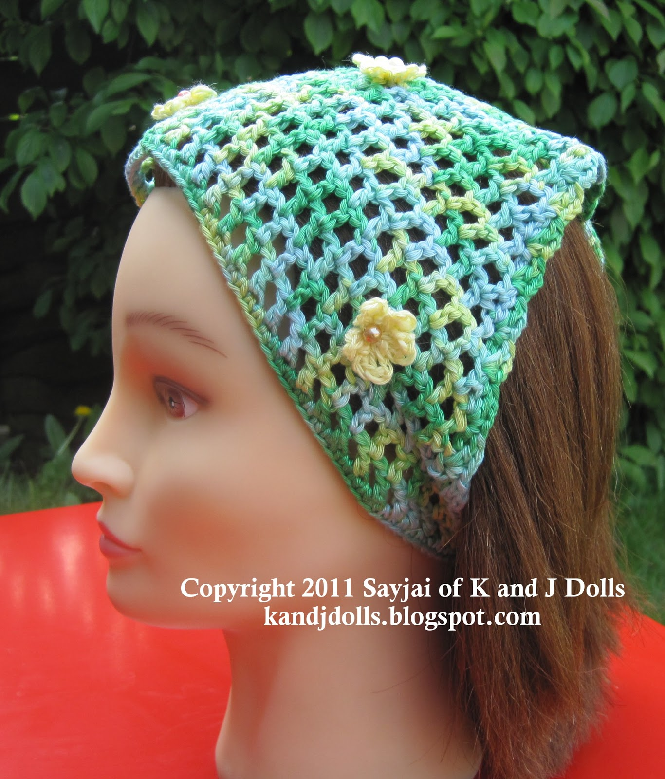 Free Summer Head Scarf Crochet Pattern - Sayjai Amigurumi ...
