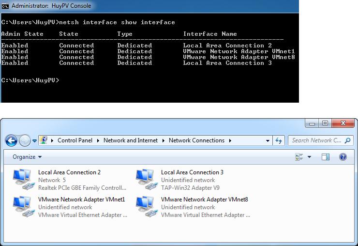 Windows - Command change dns