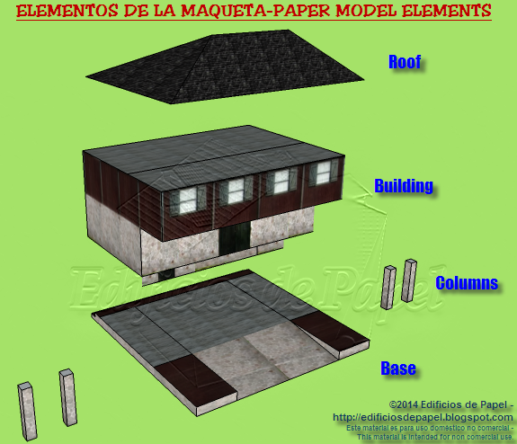 Constructive elements of the paper model