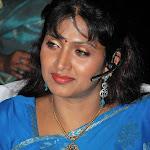 Bhuvaneswari in Blue Saree Spicy Pics
