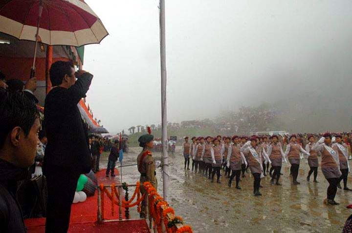 bimal gurung in Independence Day celebration in darjeeling lebong