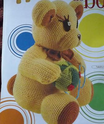 Bichinho de Crochê - Ursinho de crochê com gráfico