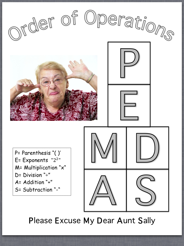 Labels  Math   Order of Operations   PEMDASPemdas