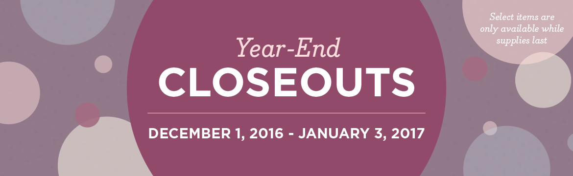 Stampin Up YEAR END CLOSEOUT!
