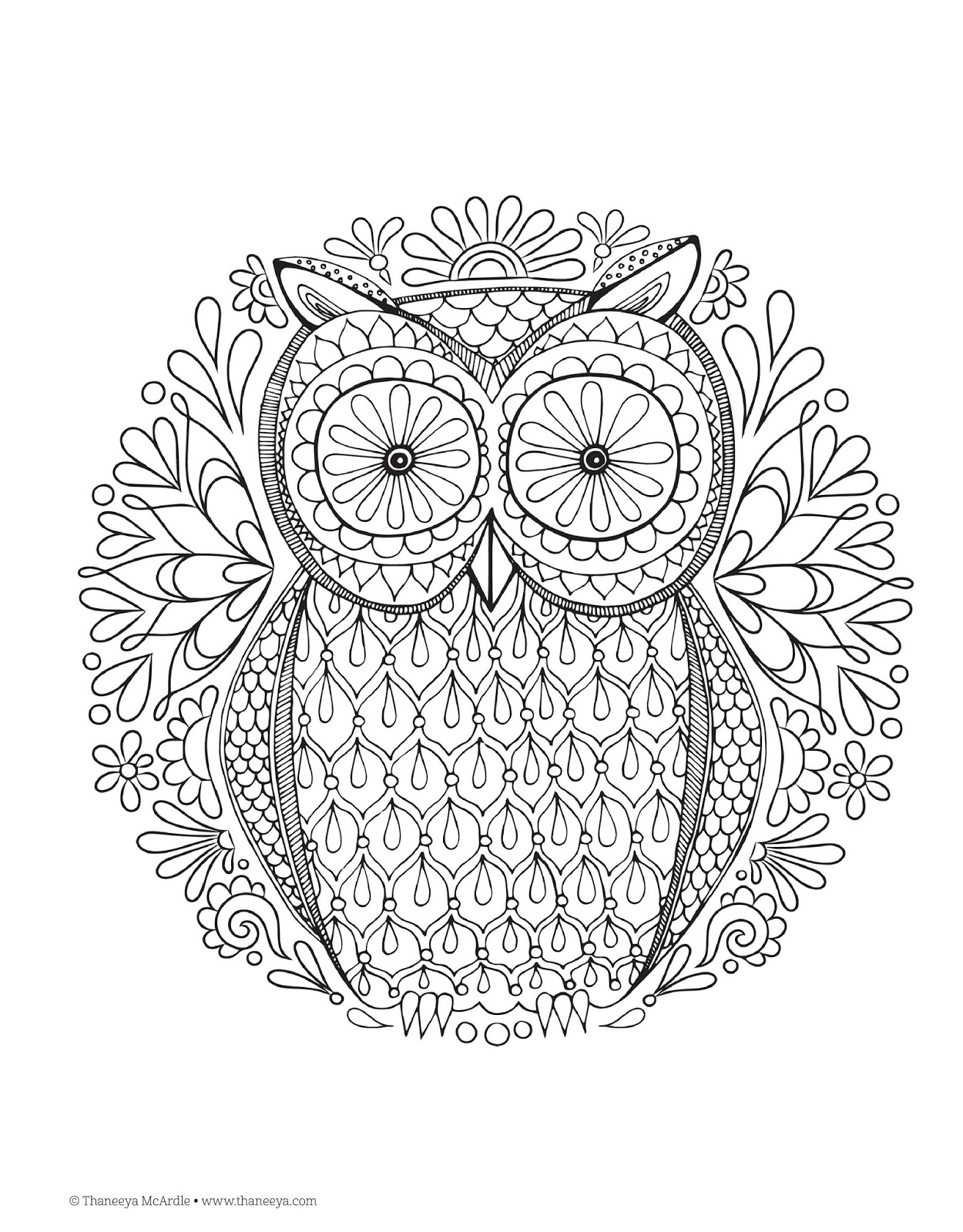 Free Coloring Pages For Adults PDF Adult Coloring Books Zone