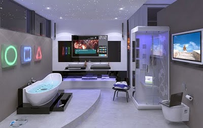 Futuristic Bathroom Decorating Design