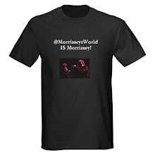 MorrisseysWorld IS Morrissey ironic t-shirt apparently available for sale online