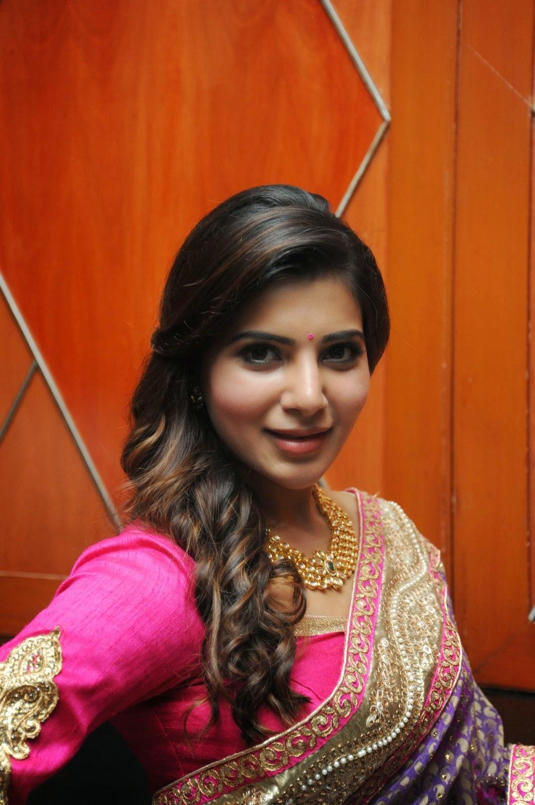 Samantha gorgeous photos in saree-HQ-Photo-12
