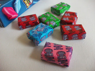 Fruit flavoured Jolly Rancher sweets in green apple, cherry, watermelon and blue raspberry flavour