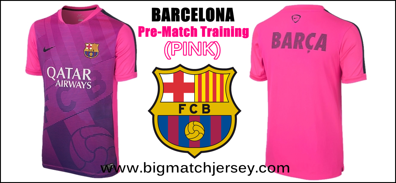 Men's Nike Pink Barcelona FC Squad Prematch Performance Top