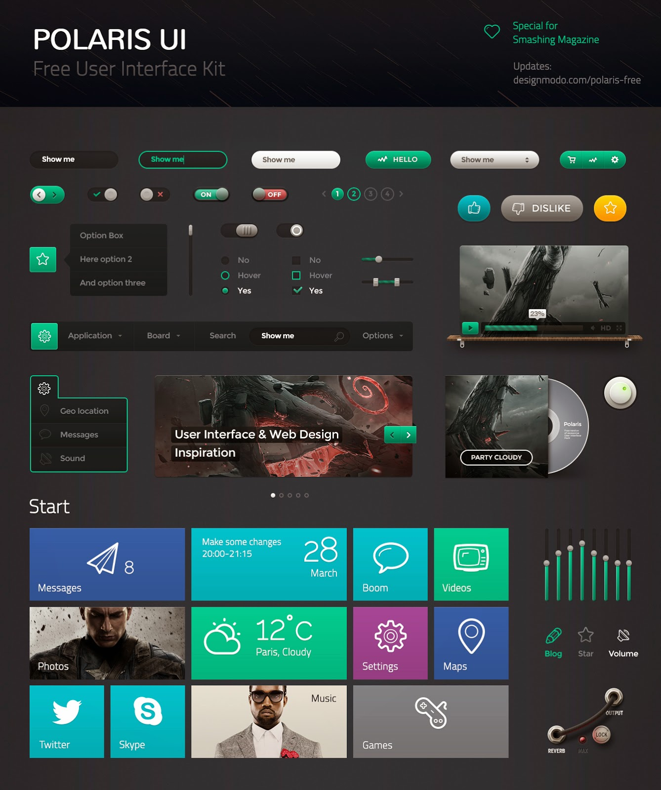 Free Polaris UI Pack PSD