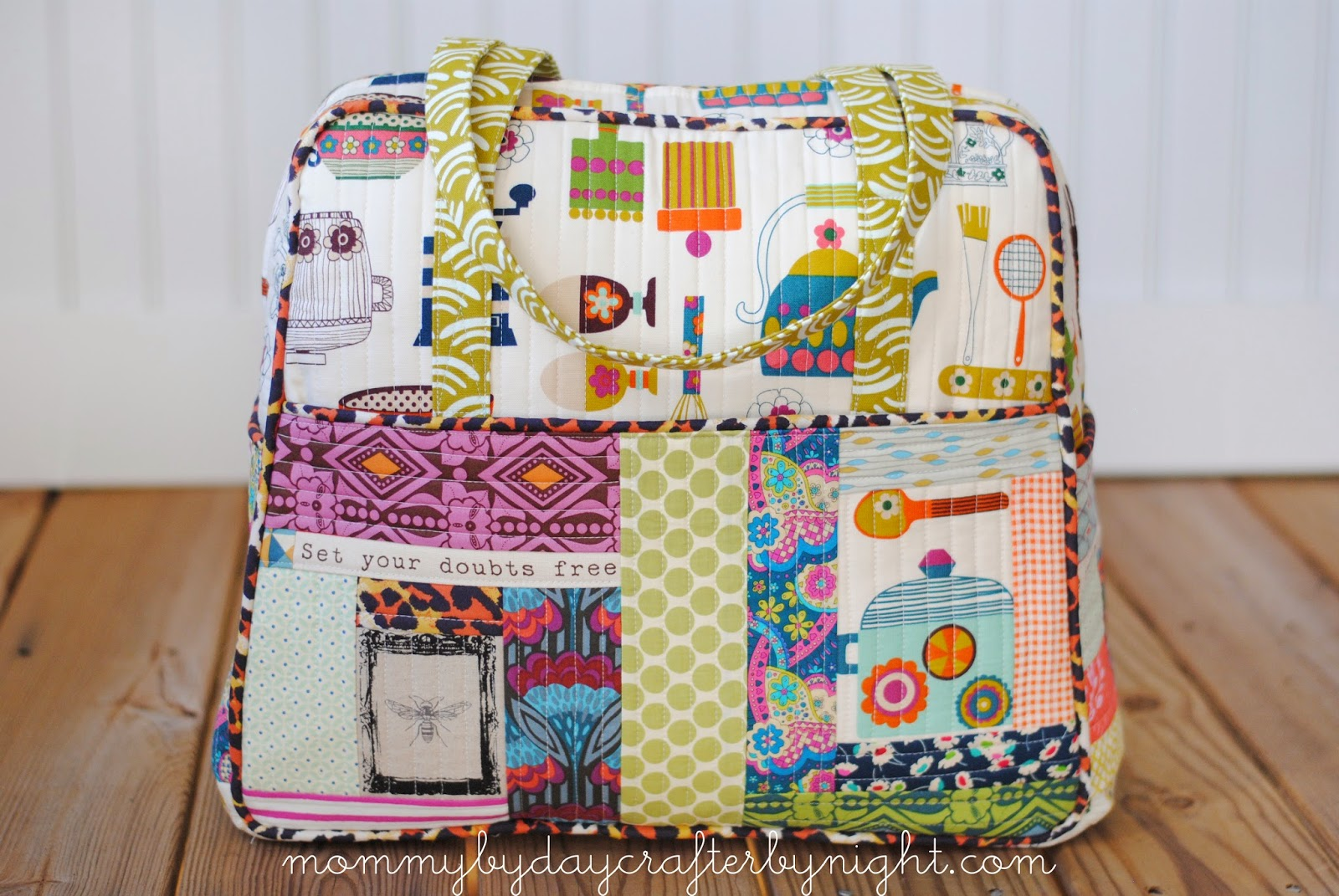 Mommy By Day Crafter By Night Quilted Weekender Bag 5
