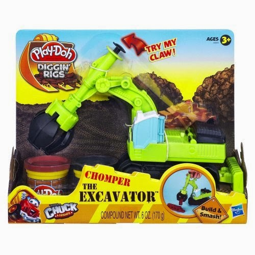 Play-Doh Diggin' Rigs Tonka Chuck and Friends Chomper The Excavator Playset Kid/Child