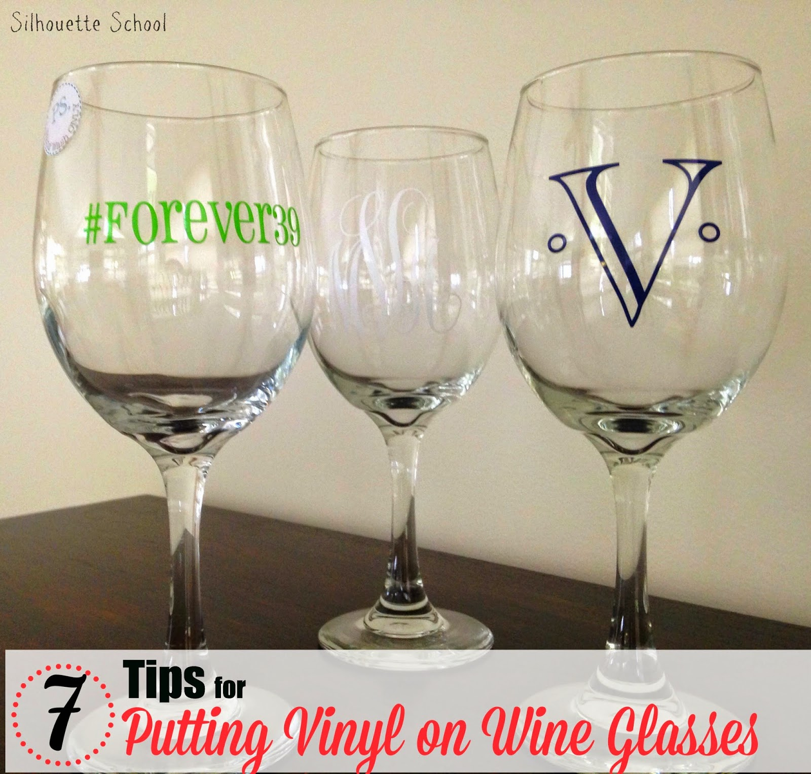 Putting Vinyl On Wine Glasses  Tips For Success Silhouette School - Best vinyl for cups