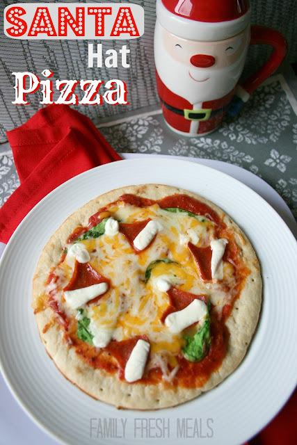 How to make a Christmas pizza!