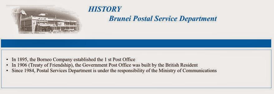 history Brunei Darussalam Postal service