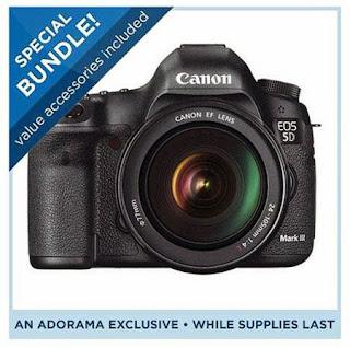 Canon EOS-5D Mark III Digital SLR Camera Body Kit Bundle