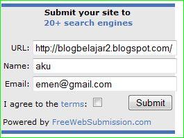 kode javascript untuk tools untuk mendaftarkan blog ke search engine