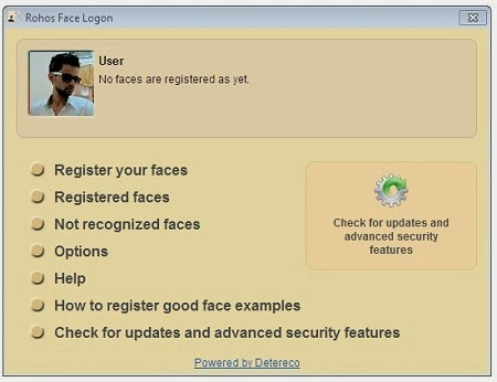 Rohos Face Logon Facial Recognition Software