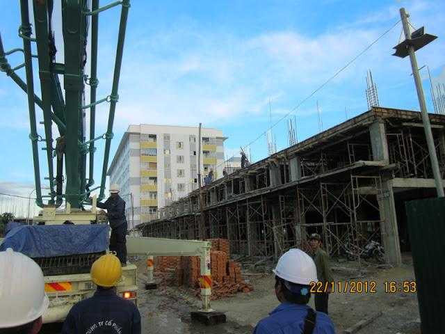 Hình ảnh công trường đang thi công tòa CT7A