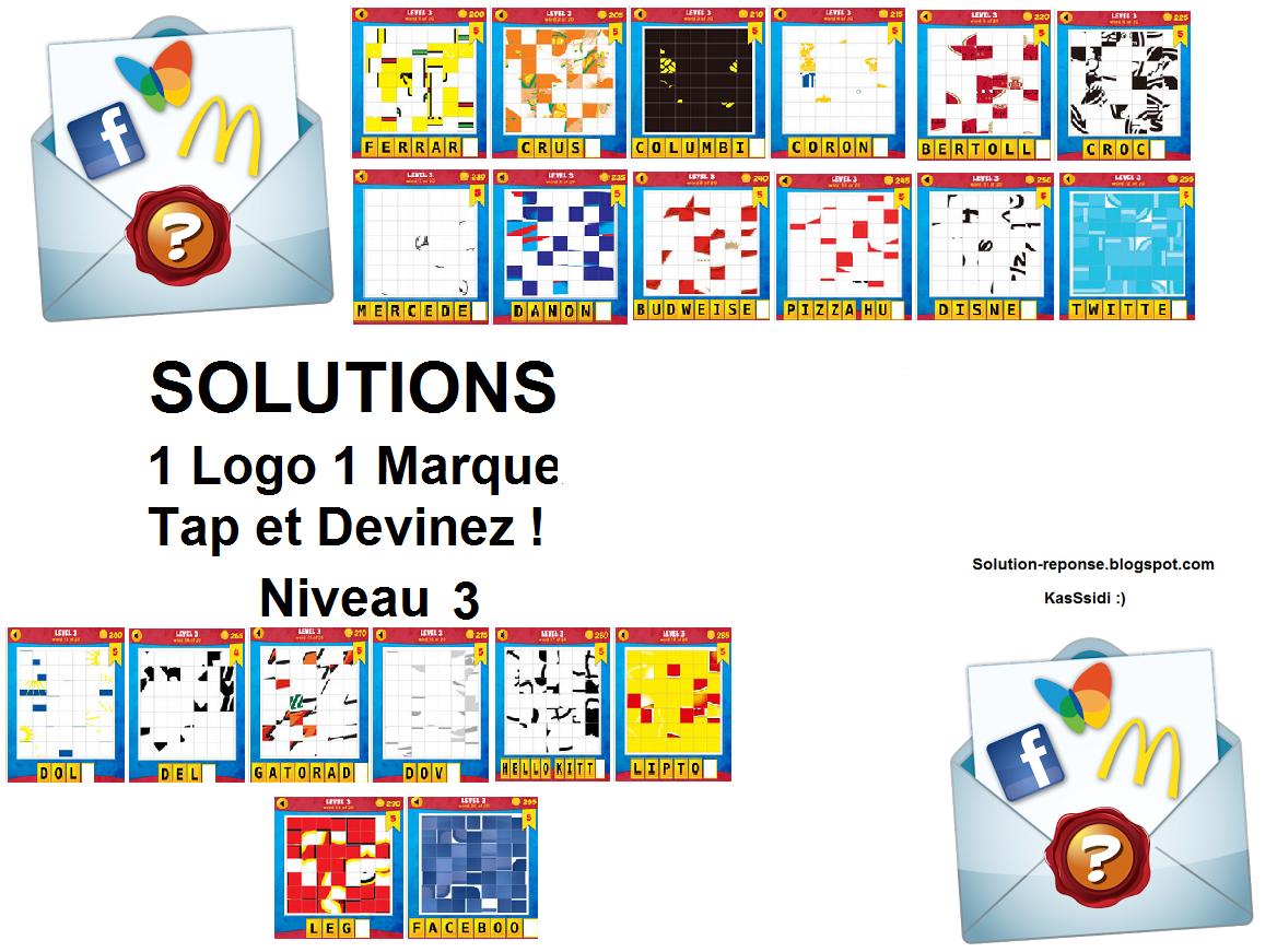 Solution 1 logo 1 marque quiz niveau 3 ~ Toutes les solutions ...