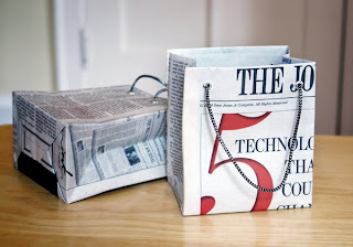 newspaper gift bag