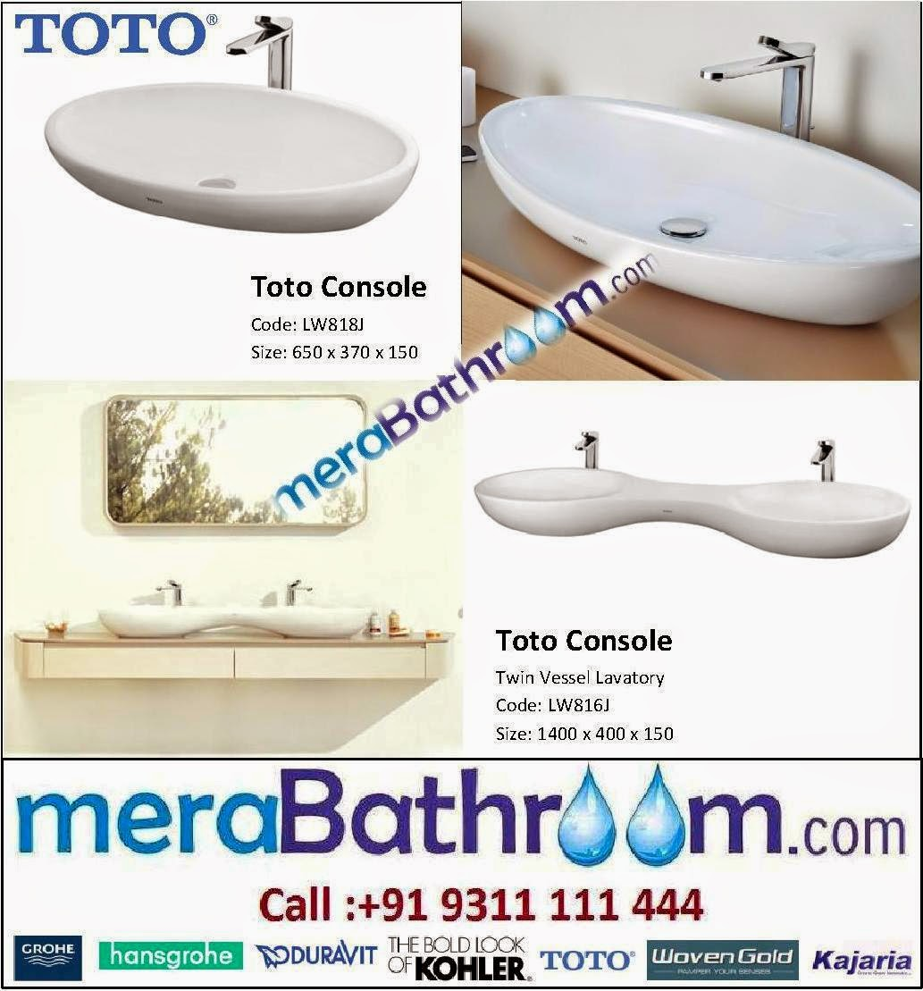 Plumber For Bathroom: Toto Countertop Lavatory