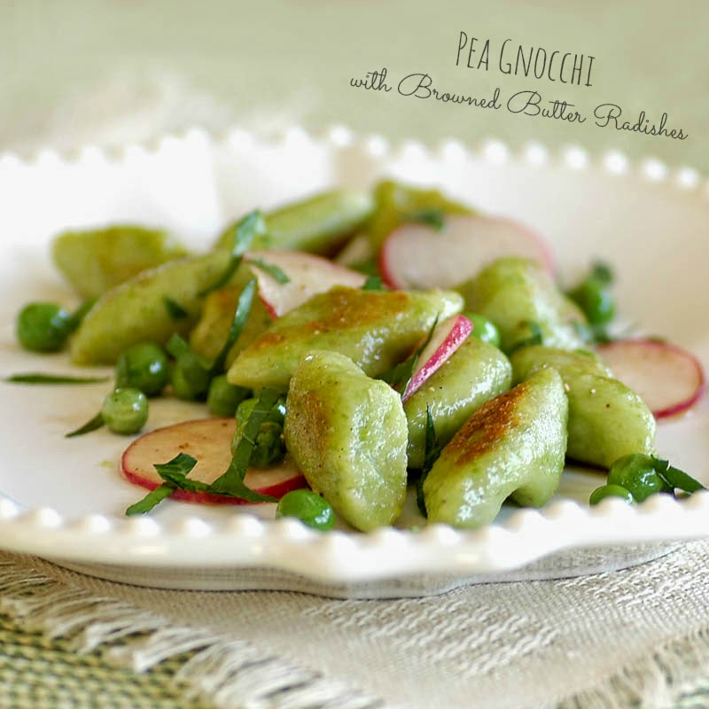 Savoring Time in the Kitchen: Pea Gnocchi with Browned Butter Radishes