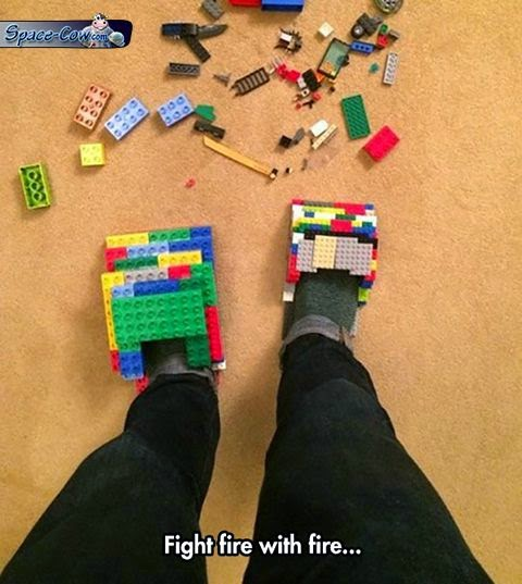 funny Lego slippers picture