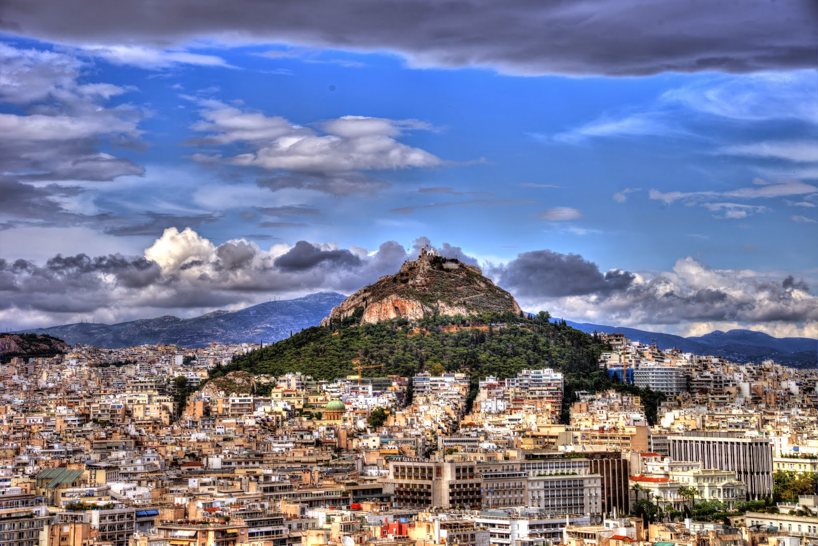 Goboogo Travel Photography: Mount Lycabettus looming over ...