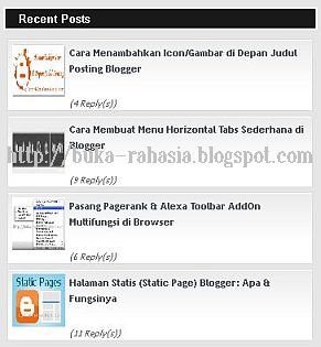 widget recent post blogspot