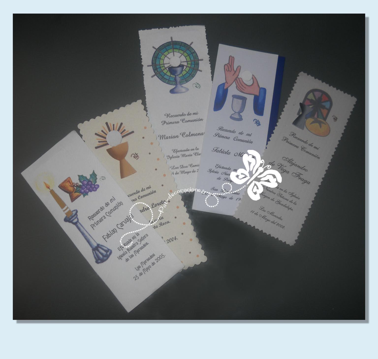 tarjetas de recuerdo de primera comunion