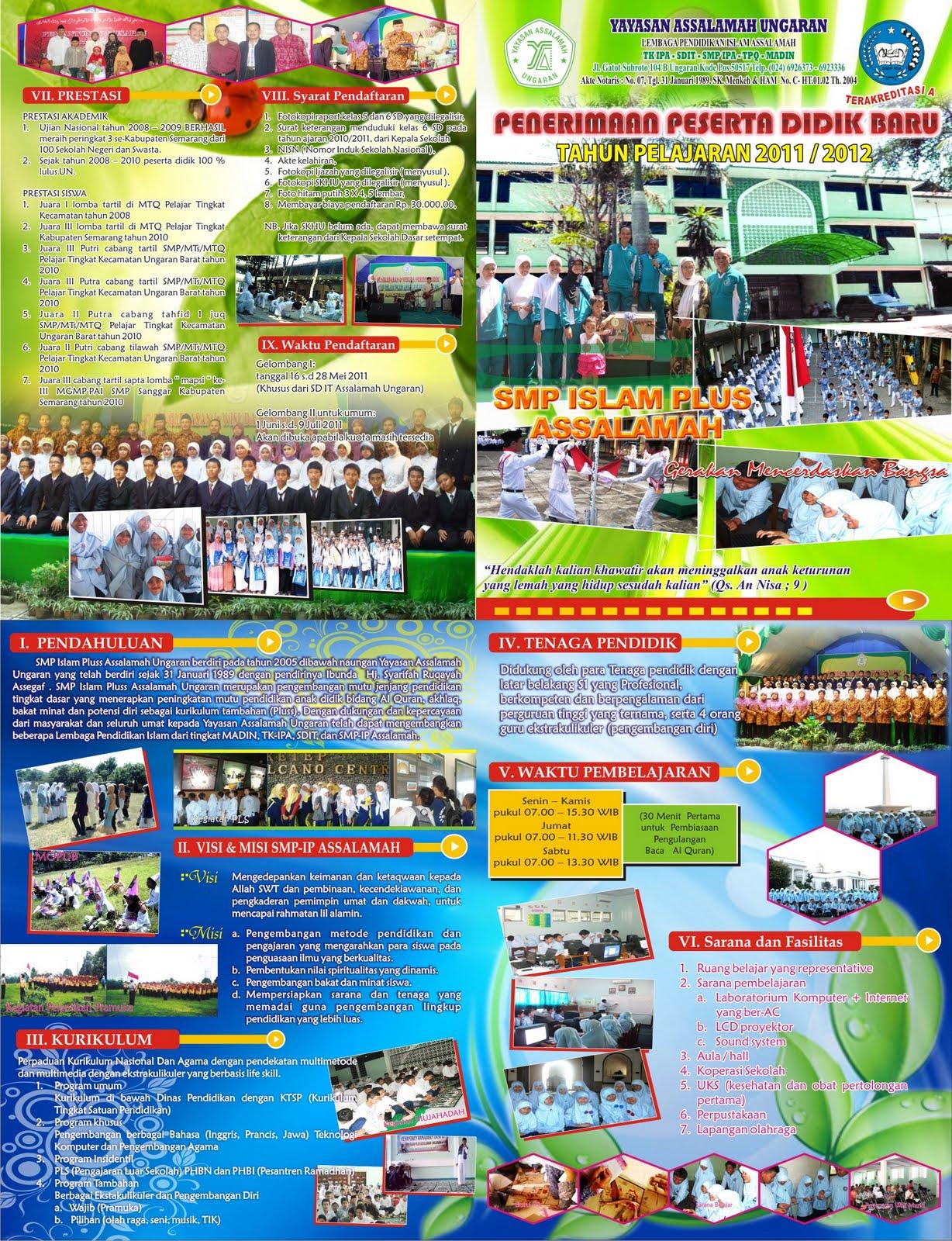 contoh-contoh sekolah smp brosur sekolah menarik