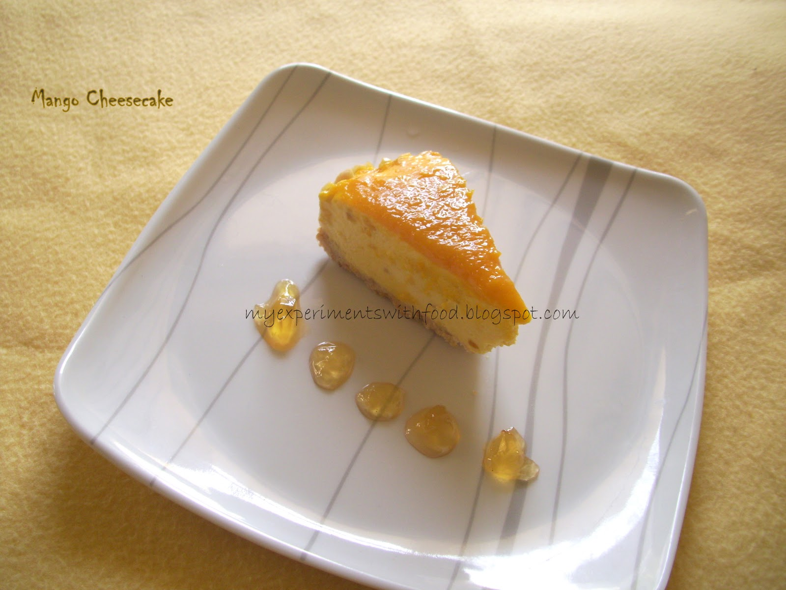 how to cut mango for cheesecake