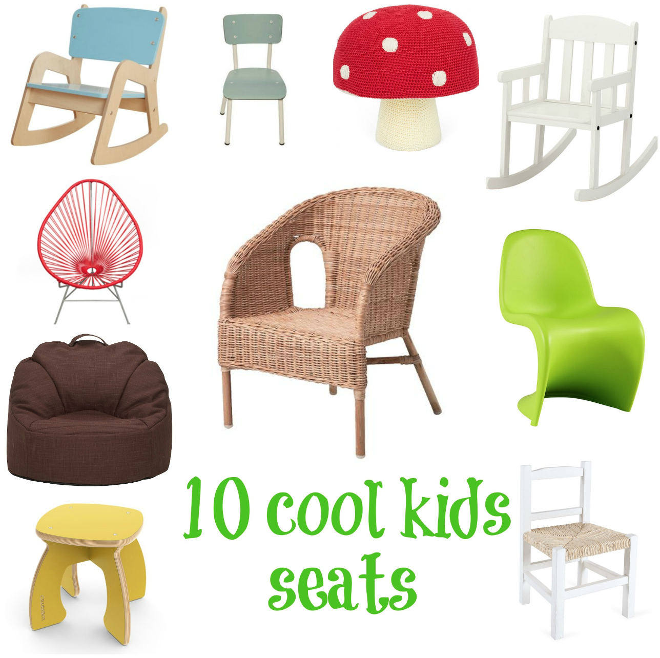 10 of the best mini chairs and stools for kids v i for Kids sitting furniture
