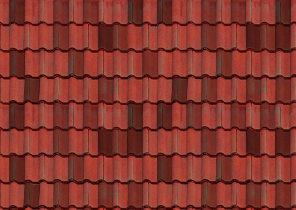 Teja 3D Metodo: Cristaleria inclinada + maps Thermal_Moisture.Roof.Tiles.Spanish.Red.Colour