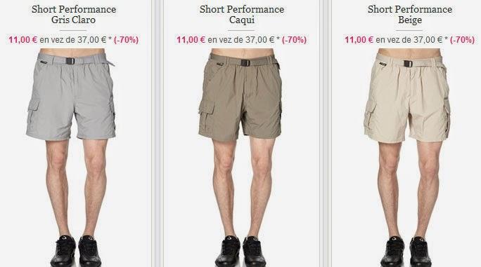 Tres ejemplos de bermudas baratas para hombre