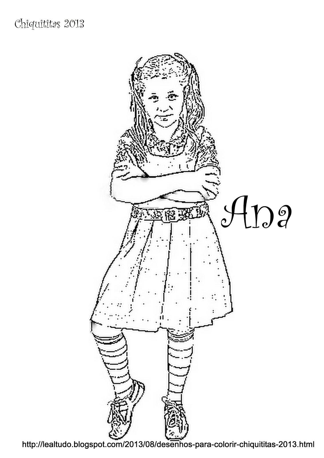 desenhos para colorir chiquititas 2013 sbt personagens ana