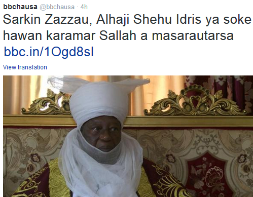 Emir of Zaria cancels Sallah Durbar due to security challenges