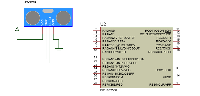 PIC: HC-SR04 - Sensor Ultrassonico