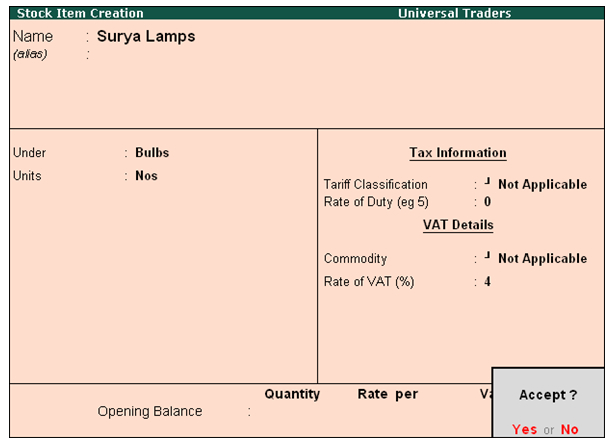 Creating Master Ledgers affected by VAT'@ Tally.ERP 9