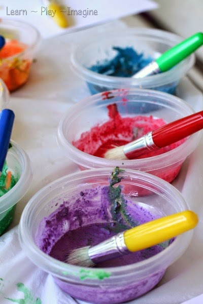 How to make paint with crushed chalk