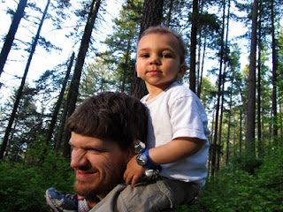 Bean on Daddy's shoulders