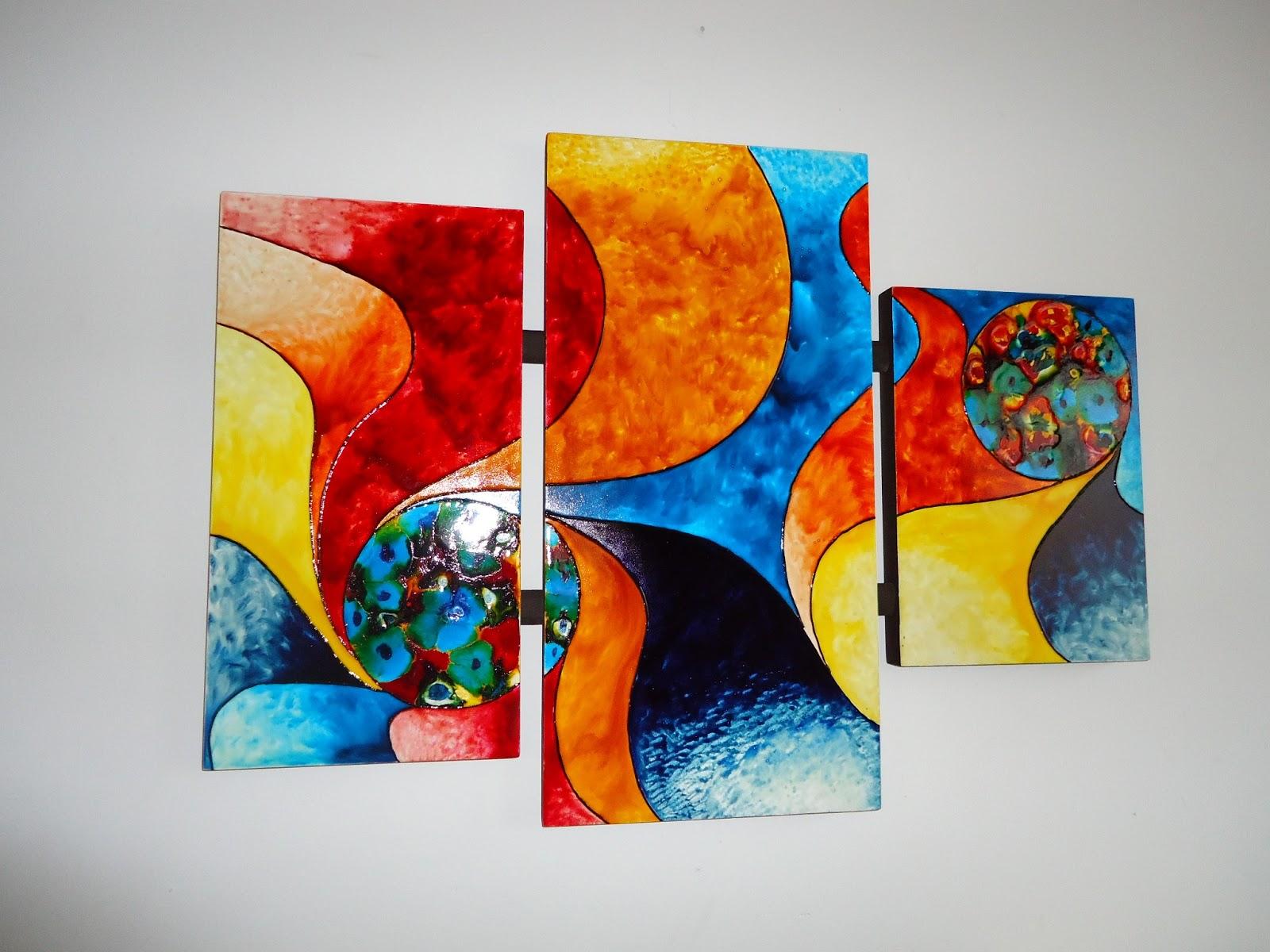 Artes y manualidades cuadros abstractos for Cuadros de manualidades modernos