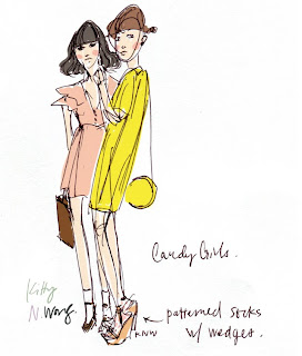 Kitty N. Wong / Candy Girls fashion drawing