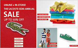 THE LACOSTE SEMI-ANNUAL SALE UP TO 50% OFF