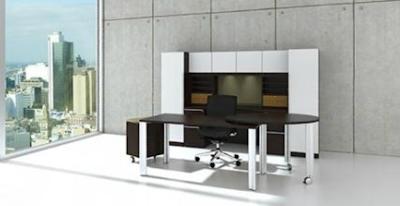 Cherryman Verde White Glass Office Desk