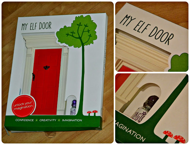 Magic Elf Door Red Wooden Shelf Christmas